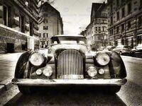 MORGAN OLDTIMER VINTAGE CAR BLACK WHITE PHOTO ART PRINT POSTER PICTURE BMP1065A