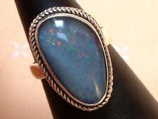Exclusiver Opal Ring - 26 x 17 mm - tolle Farben - Sterling Silber - 925 - Gr 59