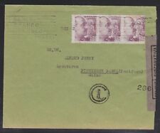 SPAIN 1942 WWII CENSORED COVER BARCELONA TO BASEL SWITZERLAND