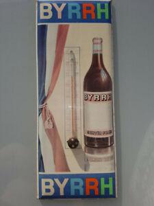 Vintage Ancien thermometre Byrrh vintage pub bar non emaillé paris france