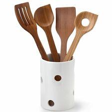 CONTINENTA Utensilienbehälter Ø 10,5 x 15,5 cm Keramik weiß Küchenhelferständer