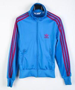 Adidas Jacket Blue Women UK 8 Full Zip Jumper S Track Suit Top RA36h