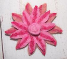 Fair Trade Sun Flower Brooch Hippy Boho Hippie Ethnic Felt Summer From Nepal