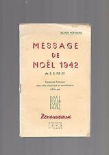 Message de Noel 1942 de SS Pie XII Action Populaire REF E37 @