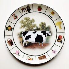 Barnyard Collection Ceramic Cow Decorative Farm Animal Display Plate Farmhouse
