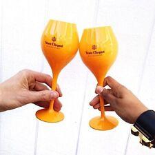 Veuve Clicquot Ponsardin VCP Acrylic Tasting Glass Flutes Set of 2 Orange