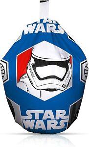 Kids Star Wars Awaken Bean Bag Storm Trooper Blue Children Boys Girls Seat Chair