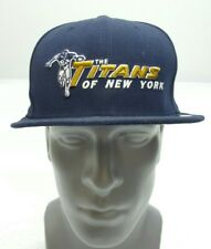 Titans of New York New Era 59FIFTY Hat Cap Fitted Size 7 5/8 NFL New York Titans