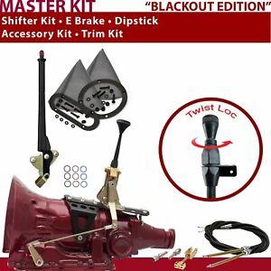 """C4 Shifter Kit 6"""" E Brake Cable Trim Kit Dipstick For C7E91"""