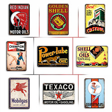 Gas, Oil & Automotive Vintage Retro Style Metal Tin Signs, 9 Styles Available