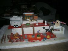 KEENWAY HORSE TRAILER STABLE WINNERS CIRCLE HORSES FIGURES PLAYSETS HUGE LOT