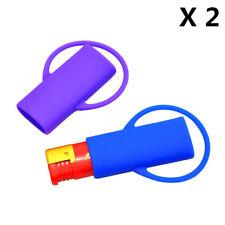 2X Multicolor New Silicone Lighter Leash Safe Stash Clip Keychain Lighter Holder