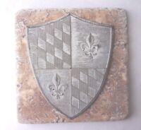 Roman shield plastic travertine tile mold plaster cement casting mould