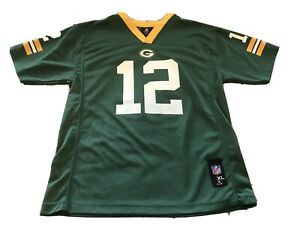 Youth Boys Xl 18-20 Green Bay Packers Jersey #12 Rodgers Preowned