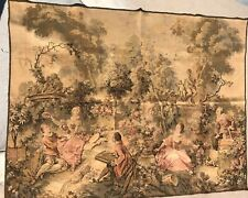 Big Antique Vintage French Wall Hanging Tapestry (140 x 190 cm)