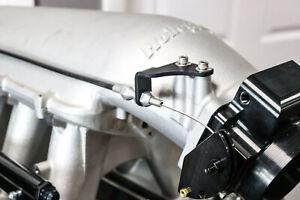 Holley Hi-Ram Throttle Cable Bracket Black Anodized (Fits Lokar Throttle Cable)