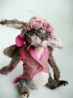 Teddy Rabbit Moth OOAK Artist Teddy by Voitenko Svitlana