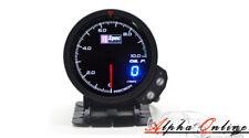 D1 Spec V3 60mm Black Face Digital / Analogue Oil Pressure Gauge *Genuine Item*