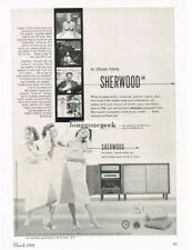1958 Sherwood High Fidelity Tuners Amplifiers Vtg Print Ad