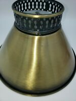 """Small Brushed Brass Finish CLIP ON Bulb Lamp Shade Top 3"""" Bottom 7"""" Slant 5"""""""