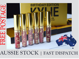 Kylie Jenner Birthday Edition LipGloss Matte Lipstick Set with retail pkg (6PCS)
