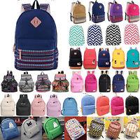 Womens Men Backpack Shoulder School Bag Rucksack Travel Bag Satchel Handbag
