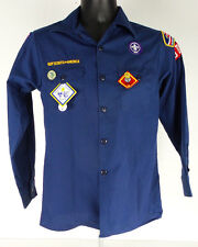 Official Boy Scout Shirt with Patches and Pins As Shown 75 Anniversary Pin Sz L