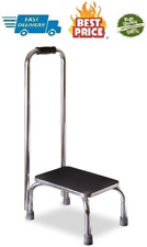 Portable Step Stool with Handle Heavy Duty Metal Stepping Stool for High Beds