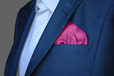 Barbie Candy Pink Satin Pocket Square Handkerchief