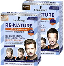 Schwarzkopf RE-NATURE Anti Gray Hair MEN - Men's Natural Hair Coloring Kit