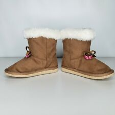 Girls Gymboree Boots Size 7 Toddler Butterfly Girl Warm  Vintage Tan