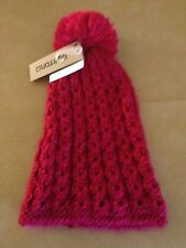 NWT Burton Hand Knit Womens Guess Again Magenta Beanie with Pom One Size NEW