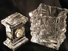 "A Rosenthal Versace  ""Crystal"" Clock & Vase by World Renown Company, Fantastic."