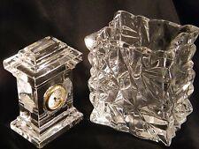 """Un Rosenthal Versace """"Crystal"""" Orologio & VASO DA fama mondiale società, fantastico."""