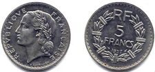 LAVRILLIER . 5 FRANCS NICKEL 1937 . SUP .