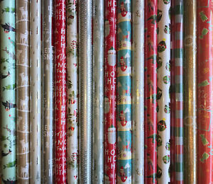 40M CHRISTMAS GIFT WRAP + 100 TAGS ASSORTED ROLLS WRAPPING PAPER ROLL PRESENT