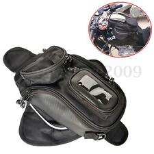 Magnetic Motorcycle MotorBike Travel Saddlebag Oil Fuel Tank Bag Phone Black New