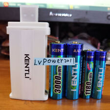 2AA+2AAA KENTLI 1.5v 3000mWh rechargeable Lithium AA AAA battery+1 usb  charger
