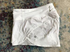 "lululemon speed shorts 6 All White 2.5"""