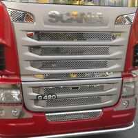 SCANIA TRUCKS G420-G440 2010-2013 Chrome Front Grill 9Pcs Stainless Steel