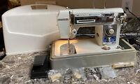 Morse Fotomatic IV Model 4400 Automatic Zig Zag Sewing Machine Vintage Case Used