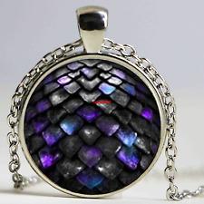 Game of Thrones Dragon Egg Silver Necklace Daenerys Targaryen Glass Dome (F143)