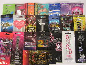 LOT of 15  DEVOTED CREATIONS VARIETY PACK of Tanning Lotion SAMPLE PACKETS