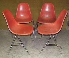 Set of Four Retro Vintage Design Chair the so called Eames DSS Fiberglass,