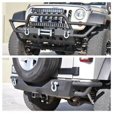 07-16 Jeep Wrangler JK Tubular Front Bumper 02 + Rear Bumper 03 Set KO Off Road