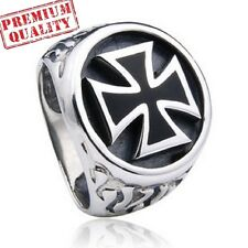 Vintage Men's Ring World War II Medal Cross Titanium Steel Stainless Steel Ring