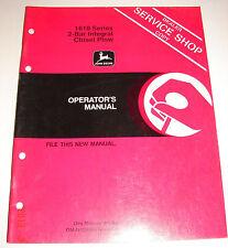 John Deere Op Manual Dealer Service Shop Copy - 1610 2-Bar Integral Chisel Plow