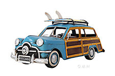 "1949 Ford Station Wagon Woody Metal Car Model 12"" w/ Surfboards Automobile Decor"