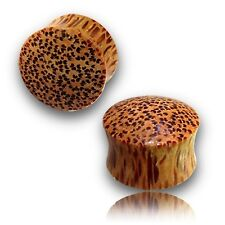 "PAIR OF 9/16"" inch COCO WOOD PLUGS ORGANIC PLUG BODY JEWELRY"