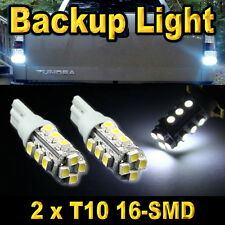 2x T10 Super White 16-SMD LED Back Up Reverse Light Bulbs 168 192 912 920 921